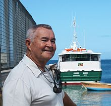 Capt Arthur Anslyn_and_the_Ferry Carib_Queen-