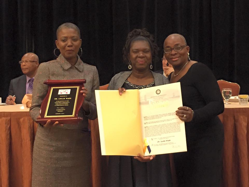 Honoree Dr. Leslie Wade is honored by HHFN