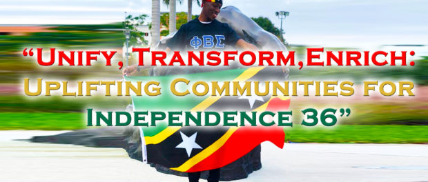 ST KITTS-NEVIS INDEPENDENCE 36 THEME REFLECTS CURRENT CLIMATE IN ST